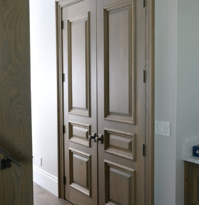 3 Panel Custom Wood Interior Door