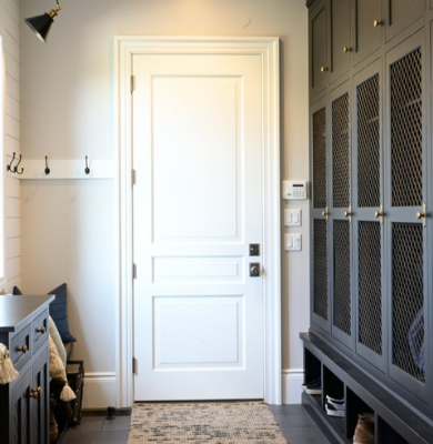 White 3 Panel Custom Door